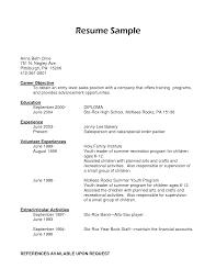 Entry Level Resume For High School Students - Kleo.beachfix.co