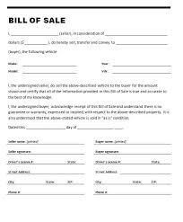 Sample Of Bill Of Sale For Car Sell Car Bill Of Sale Under Fontanacountryinn Com