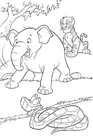 Cartoon Jungle Animals Coloring Pages Free Scenes Ideas And ...