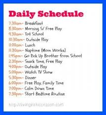 Daily Routine Chart For 2 Year Old Daily Schedule For 6 Year Old Planner Template Free