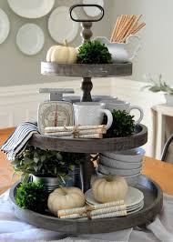 rustic 3 tiered wooden farmhouse tray ideas for decorating tiered trays