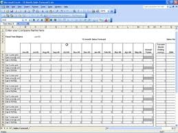 Forecast Budget Template Sales Budget Template Excel Free