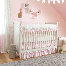 chic nursery decor ideas pink and gray crib bedding design image of style  decorations