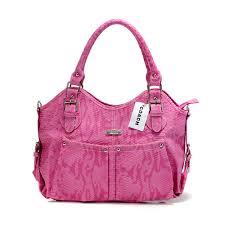 Coach Embossed Medium Pink Satchels DEX