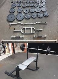york 6600 weight bench. york weight bench amp 100kg cast iron plates dumbbells ez tricep bar barbell - aylesbury 6600