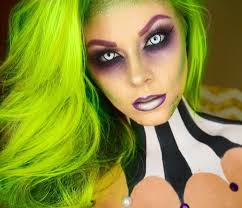 female joker diy face paint costumes