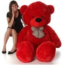 struffed toy sweet and soft 5 feet teddy bear red Buy Online - Get