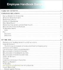 Sample Employee Handbooks Employee Rules Template Employee Handbook Template Word