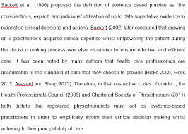 evidence based practice shannon tracey e portfolio below is a piece of writing from my dissertation which shows a much more succinct explanation of ebp and why physiotherapists must be evidence based