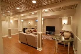 basement ceiling lighting ideas. Drop Basement Ceiling With Recessed Lights Ideas For Finishing A Lighting C