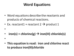 5 word equations