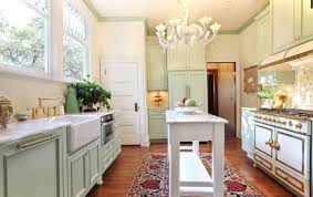 Victorian Kitchen Floor Authentic Victorian Kitchen Red Dangling Pendant Lamps White