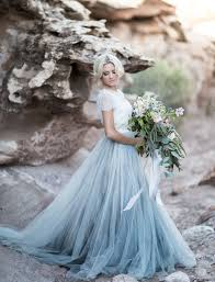 Desert Wedding Inspiration At Zion National Park Blue Tulle