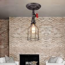 Image Hanging Lamp Vintage Industrial Semi Flush Mount Ceiling Light Fixtures Loading Zoom Dhgate Vintage Industrial Semi Flush Mount Ceiling Light Fixtures