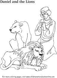 Small Picture Colouring Daniel And The Lions Den Coloring Page Fresh In Decor