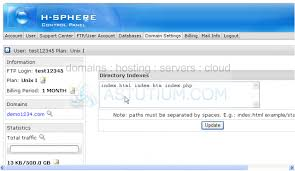 How to change your default page in H-Sphere