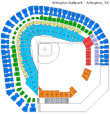 Ballpark At Arlington Seating Chart Hand Picked Ranger Tickets Seating Chart The Ballpark At