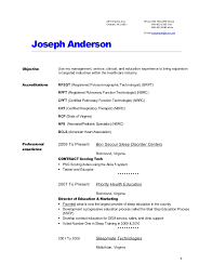 Joes Resume Art Galleries In Certified Respiratory Therapist Cover