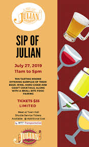 Samples Of Tickets For Events Sip Of Julian Ramona Events