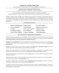 It Program Manager Resume Sample Entry Level Project Manager Resume