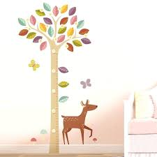 wall growth chart beautiful blossoming tree growth chart printed wall decals wooden wall growth chart canada