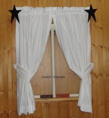 Primitive Curtains For Kitchen Muslin Curtains Ebay