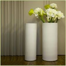 T White Floor Vase Vases Decor Modern  Large