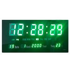 digital led wall clock and large