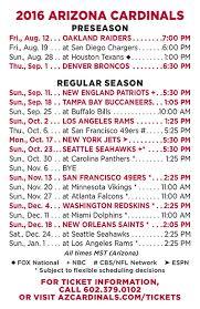 Arizona Cardinals Announce 2016 Schedule