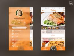 restaurant menu design app 30 great examples of app sliding navigation menus