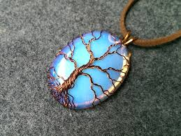 pendant tree of life with big stone no holes wire wrapping stones 206