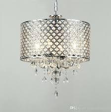modern drum chandelier modern contemporary chrome color round crystal pendant light drum chandelier hanging lighting fixture
