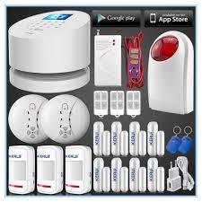 app wifi gsm pstn phone three network home office security alarm system3 pir motion8 doorwindow sensoroutdoor strobe siren network security officer