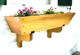 wooden window flower boxes box plans cedar planters planter diy