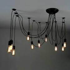 details about retro 10 light adjule swag multi pendant industrial loft hanging lights lamp