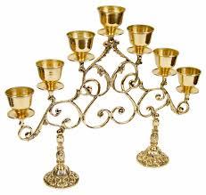 seven branch table 2 leg chapel candelabrum