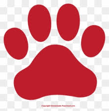 red dog paw clipart.  Paw Fresh Clipart Of Paw Prints Dog Print Clip Art  Red In N