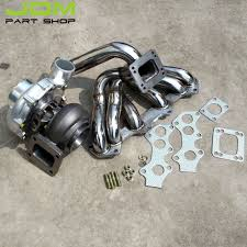 For Toyota Supra 1JZ VVTI JZ Turbo Exhaust Manifold+T4 Oil+Water ...