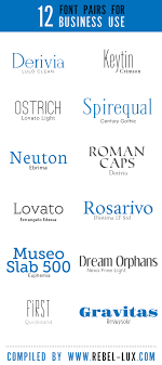 12 Pairs Of Fonts That Look Good Together For Business Use Flyers