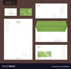 Stationery Letterhead Modern Stationery Set In Format Letterhead