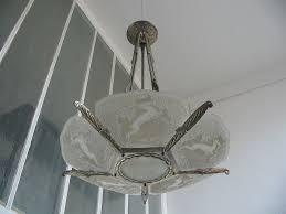 art deco chandelier 6 glass parts