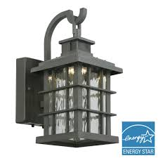 summit ridge collection zinc motion sensor outdoor integrated led small wall mount lantern