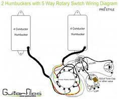 wiring an import 5 way switch guitar mod ideas pinterest 1950s Strat 5 Way Switch Wiring Diagram 2 humbuckers with 5 way rotary switch wiring diagram 5-Way Guitar Switch Diagram