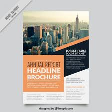 Great Business Flyer With Orange Details Vector Free Download