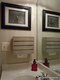 hand towel holder for wall. making a holder for kleenex hand towels in your bathroom, bathroom ideas, cleaning organization, diy towel dispenser wall