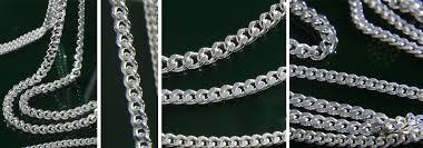 sterling silver diamond cut curb chain