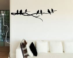 >bird wall decals vinyl wall art stickers branch with birds wall decal vinyl tree art stickers