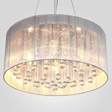 drum shade crystal ceiling chandelier pendant light fixture lighting lamp lovely summer white drum shade crystal ceiling chandelier pendant