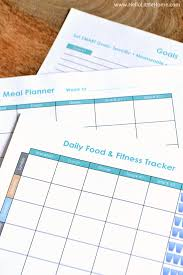 Free Printable Food And Exercise Journal Hello Little Home