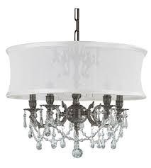 crystorama 5535 pw smw cls gramercy 5 light 20 inch pewter mini chandelier